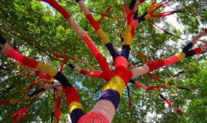 Chenôve – Atelier tricot : de la couleur pour nos arbres
