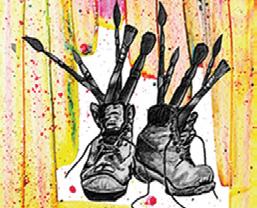 Exposition des ateliers – Les pinceaux chaussés