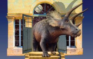 Un tricératops au jardin des Sciences de Dijon