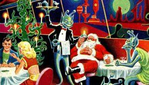 Apéritif de Noël martien orchestré par Mr Duterche