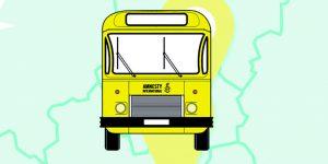 Bus «I Welcome» d'Amnesty international