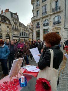 Manifestation des coquelicots