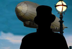 Sherlock géant «À l'ombre du Zeppelin»