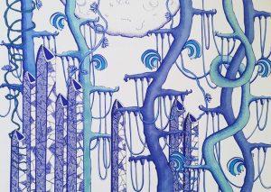 Vernissage exposition «Expériences» de Nine Bubb (dessins)