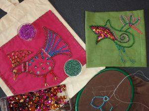Atelier – Perles et paillettes